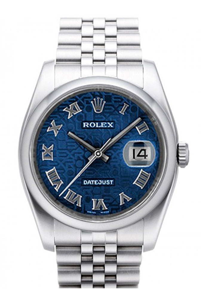 Rolex Datejust 36 Blue Jubilee Dial Stainless Steel Mens Watch 116200 / None