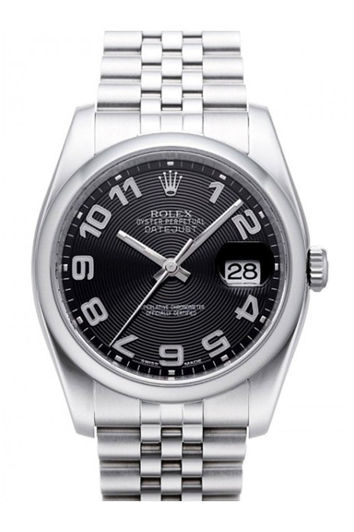 ROLEX 116200 Datejust 36 Black Sunbeam Dial Jubilee Watch| WatchGuyNYC New York