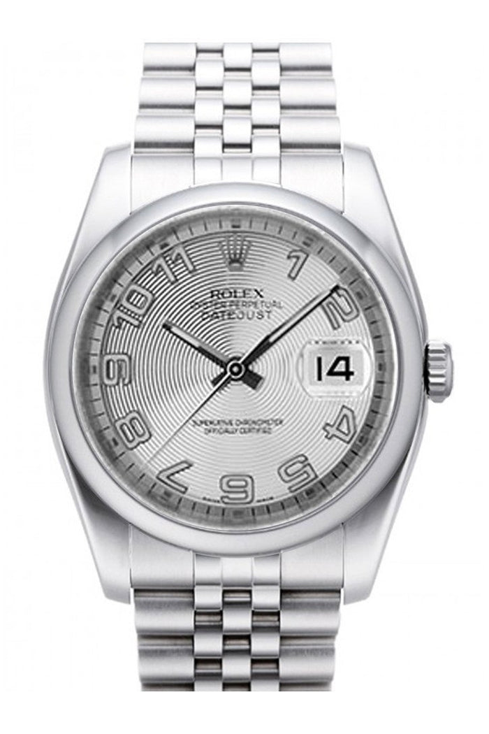 ROLEX 116200 Datejust 36 Silver Concentric Dial Jubilee| WatchGuyNYC New York