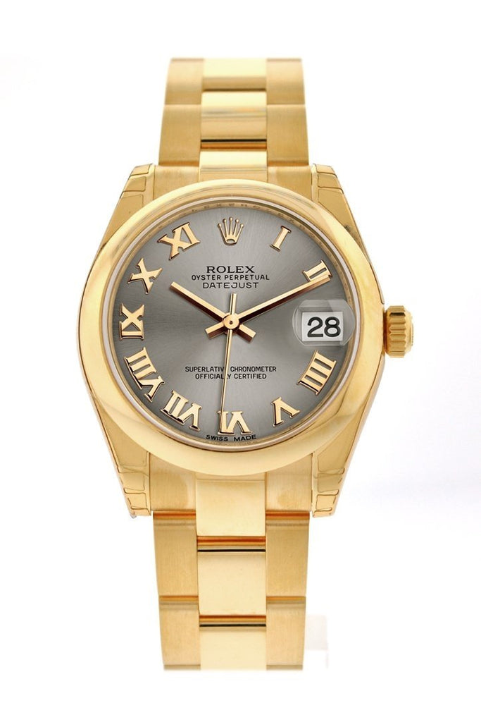 Rolex Datejust 31 Steel Roman Dial 18K Yellow Gold Ladies Watch 178248