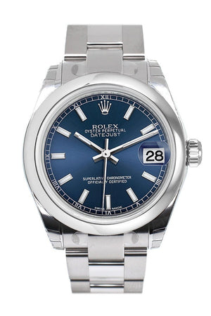 Rolex Datejust 31 Blue Dial Steel Ladies Watch 178240 / None