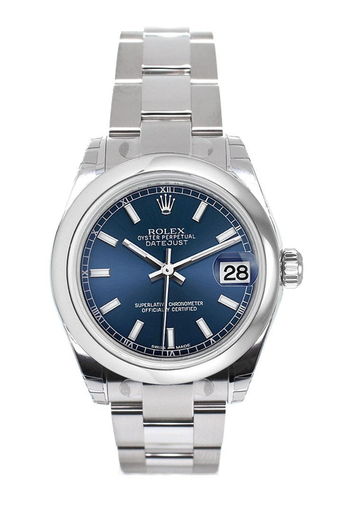 Rolex Datejust 31 Blue Dial Steel Ladies Watch 178240