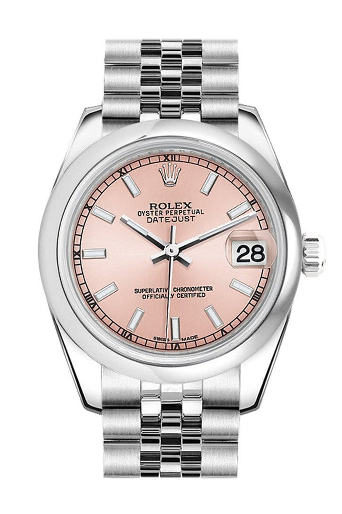 Rolex Datejust 31 Pink Dial Stainless Steel Jubilee Ladies Watch 178240 / None