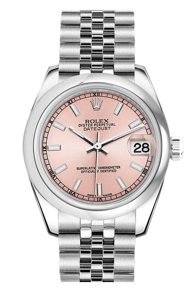 Rolex Datejust 31 Pink Dial Stainless Steel Jubilee Ladies Watch 178240