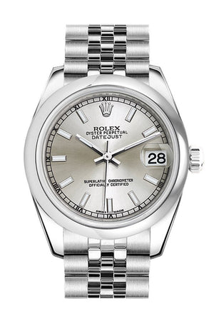 Rolex Datejust 31 Silver Dial Stainless Steel Jubilee Ladies Watch 178240 / None