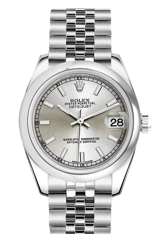 Rolex Datejust 31 Silver Dial Stainless Steel Jubilee Ladies Watch 178240