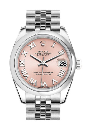 Rolex Datejust 31 Pink Roman Dial Stainless Steel Jubilee Ladies Watch 178240 / None