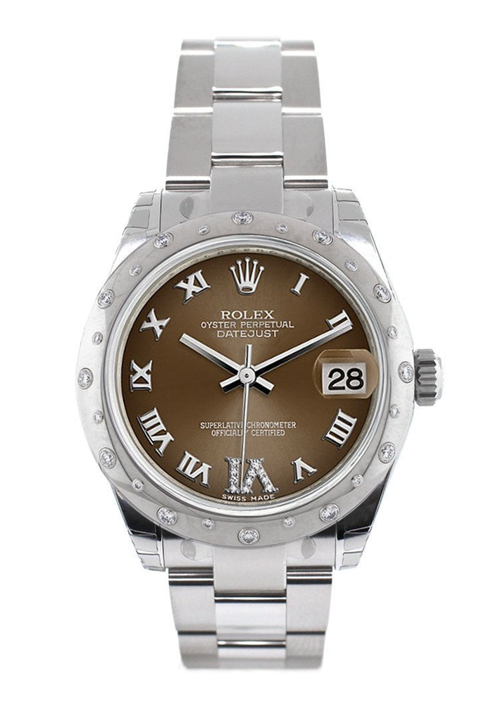 Rolex Datejust 31 Bronze Roman Large Vi Diamond Dial Dome Set With Diamonds Bezel Ladies Watch
