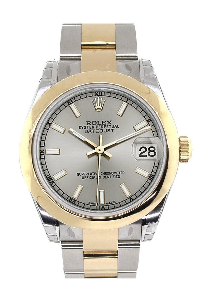 Rolex Datejust 31 Silver Dial 18K Gold Two Tone Ladies Watch 178243