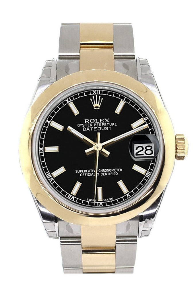 Rolex Datejust 31 Black Dial 18K Gold Two Tone Ladies 178243 / None Watch