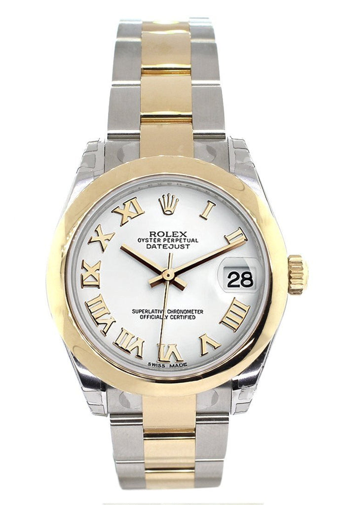 Rolex Datejust 31 White Dial 18K Gold Two Tone Ladies 178243