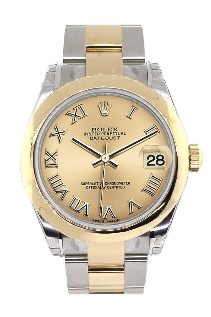 Rolex Datejust 31 Champagne Roman Dial 18K Gold Two Tone Ladies 178243