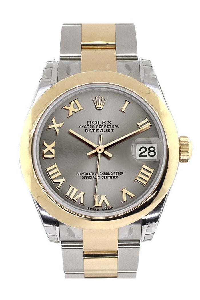 Rolex Datejust 31 Steel Roman Dial  18K Gold Two Tone Ladies 178243