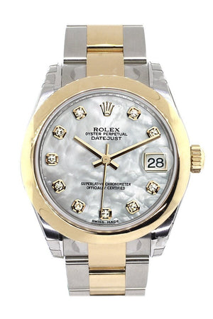 Rolex Datejust 31 Mother Of Pearl Diamonds Dial 18K Gold Two Tone Ladies 178243 / None Watch