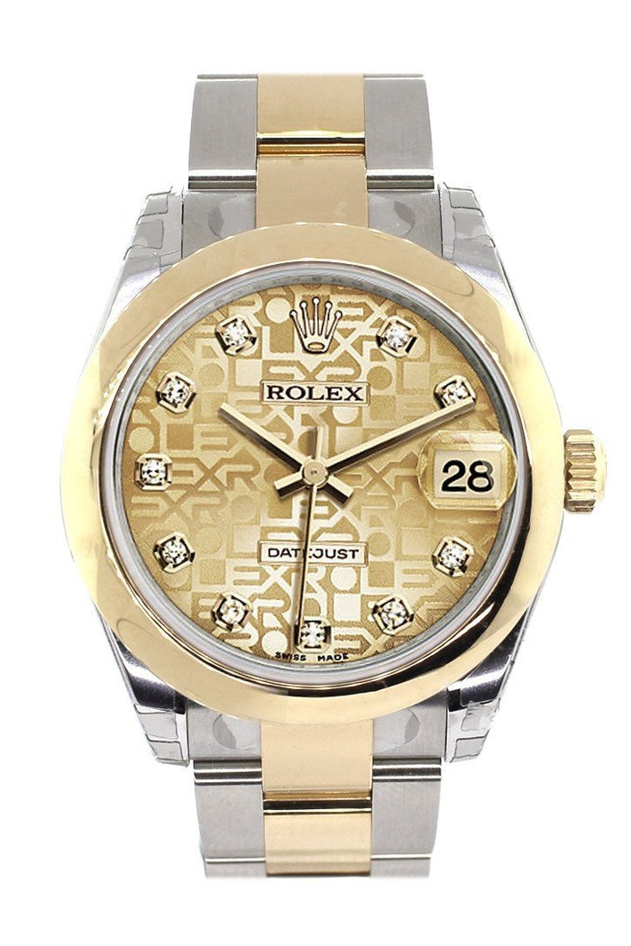 Rolex Datejust 31 Champagne Jubilee Diamond Dial 18K Gold Two Tone Ladies 178243