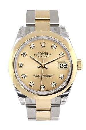 Rolex Datejust 31 Champagne Diamond Dial 18K Gold Two Tone Ladies 178243 / None Watch