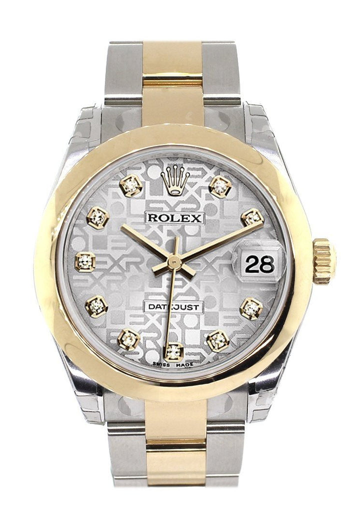 Rolex Datejust 31 Silver Jubilee Diamond Dial 18K Gold Two Tone Ladies 178243