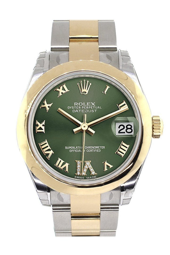 Rolex Datejust 31 Olive Green Roman Large Vi Diamond Dial18K Gold Two Tone Ladies 178243 / None