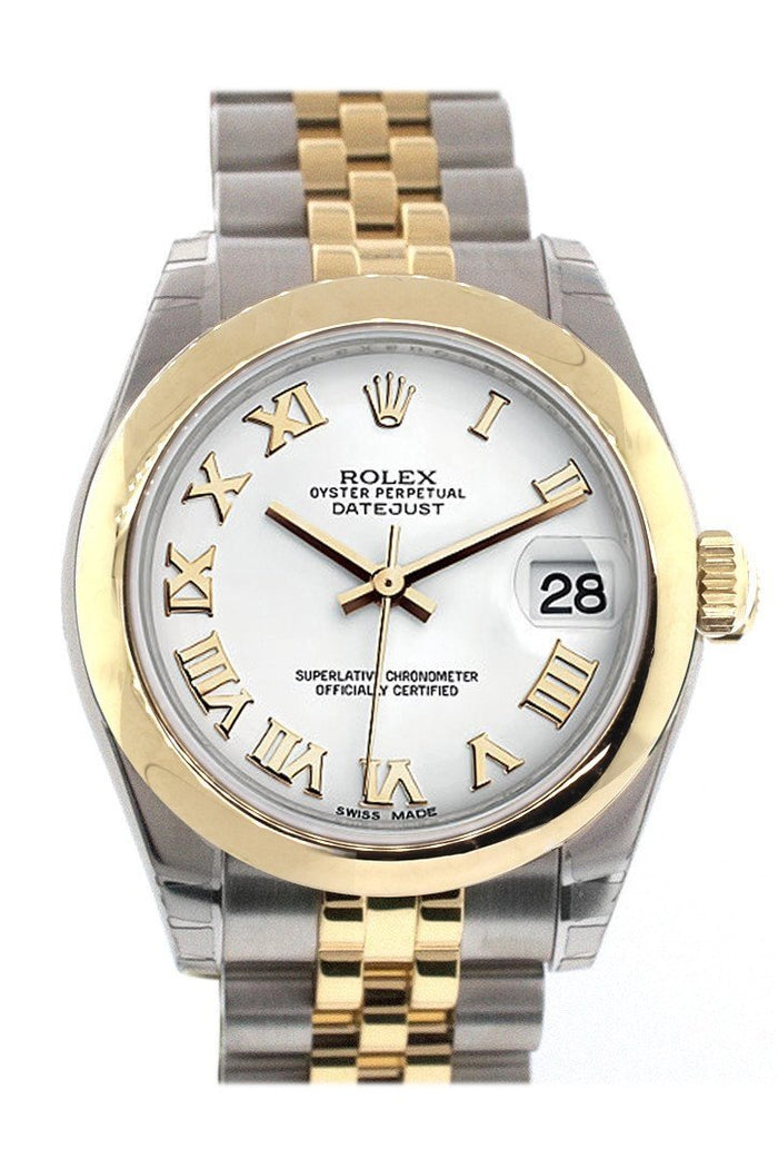 Rolex Datejust 31 White Dial  18K Gold Two Tone Jubilee Ladies 178243