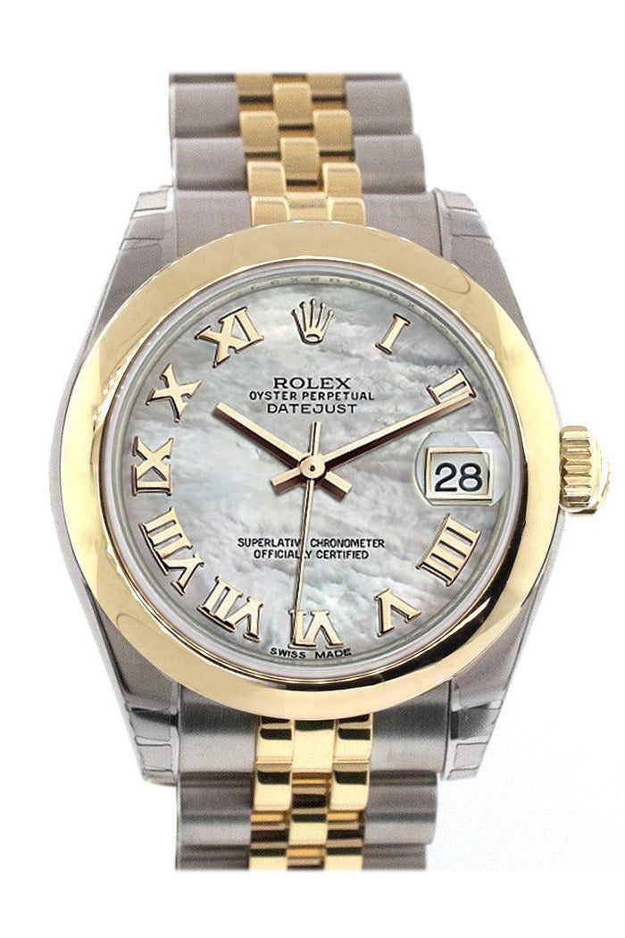 Rolex Datejust 31 Mother of pearl Roamn Dial 18K Gold Two Tone Jubilee Ladies 178243
