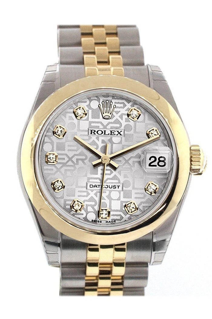 Rolex Datejust 31 Silver Jubilee Diamond Dial 18K Gold Two Tone Jubilee Ladies 178243