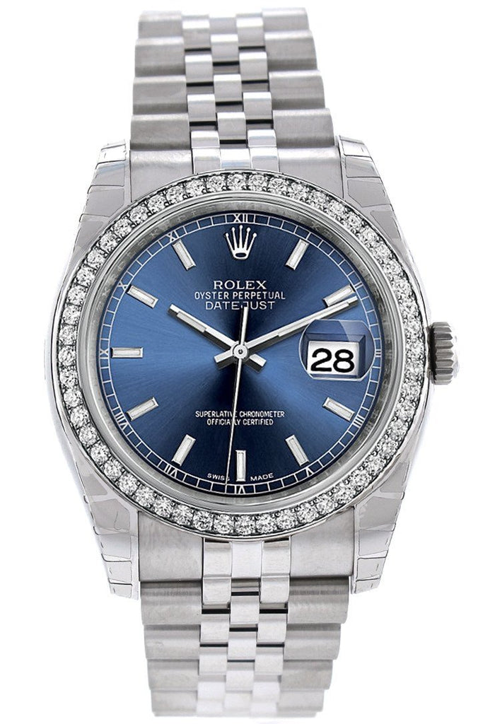Rolex Datejust Blue Dial Diamond
