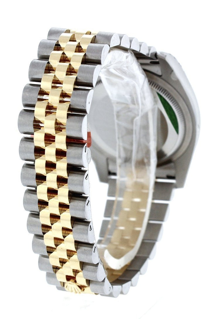 Rolex Datejust 36 Silver Floral Motif Dial 18K White Gold Diamond Bezel Jubilee Ladies Watch 116243