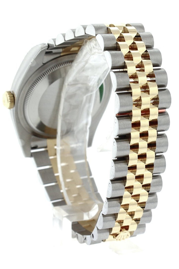 Rolex Datejust 36 Black Dial 18k White Gold Diamond Bezel Jubilee Ladies Watch 116243
