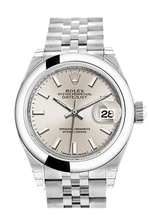 Rolex Datejust 28 Silver Dial Steel Jubilee Ladies Watch 279160