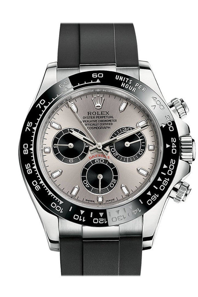Rolex Cosmograph Daytona Steel And Black Dial Oysterflex Strap Mens Watch 116519Ln