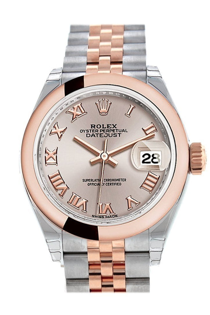 Rolex Datejust 28 Sundust Roman Dial Jubilee Ladies Watch 279161