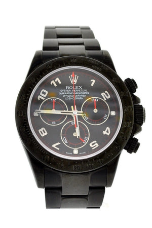 Rolex Black-Pvd Cosmograph Daytona Black Dial Stainless Steel Boc Coating Oyster Mens Watch / None