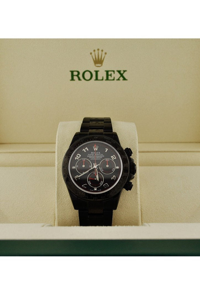 Rolex Black-Pvd Cosmograph Daytona Black Dial Stainless Steel Boc Coating Oyster Mens Watch Rolex