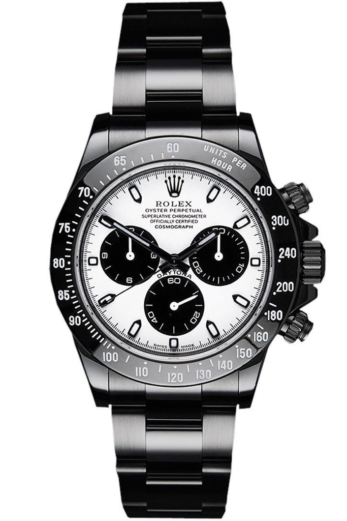 Rolex Black-Pvd Cosmograph Daytona White Dial Stainless Steel Black Boc Coating Oyster Mens Watch /