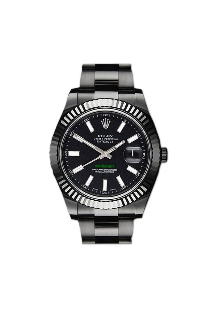 ROLEX Custom Black-pvd Datejust Mens Watch Warranty | WatchGuyNYC