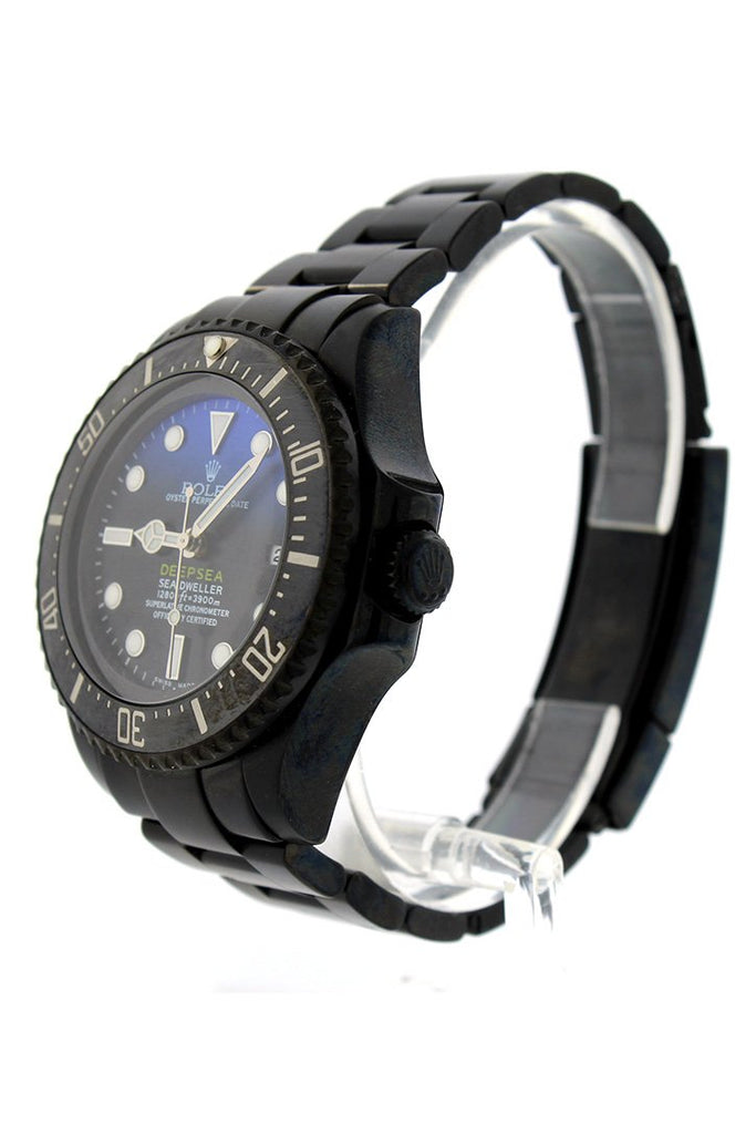Rolex Black-Pvd Sea Dweller Deepsea Black Blue Dial Stainless Steel Boc Coating Oyster Automatic