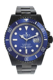 Rolex Black-pvd Submariner Blue Dial Blue Cerachrom Bezel Steel Black Boc Coating Men's Watch