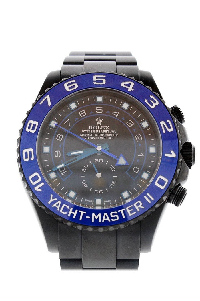 ROLEX BLACK-PVD YACHT-MASTER 40 DARK RHODIUM DIAL STEEL BLACK BOC COATING OYSTER MEN'S WATCH 116680