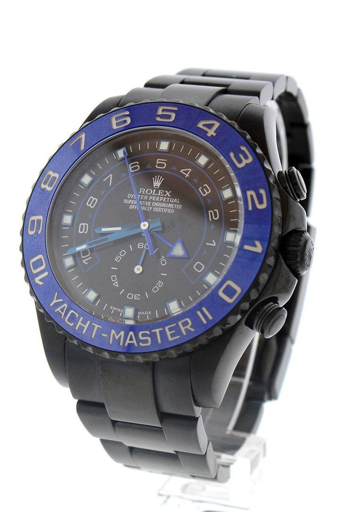 Rolex Black-Pvd Yacht-Master 40 Dark Rhodium Dial Steel Black Boc Coating Oyster Mens Watch 116680