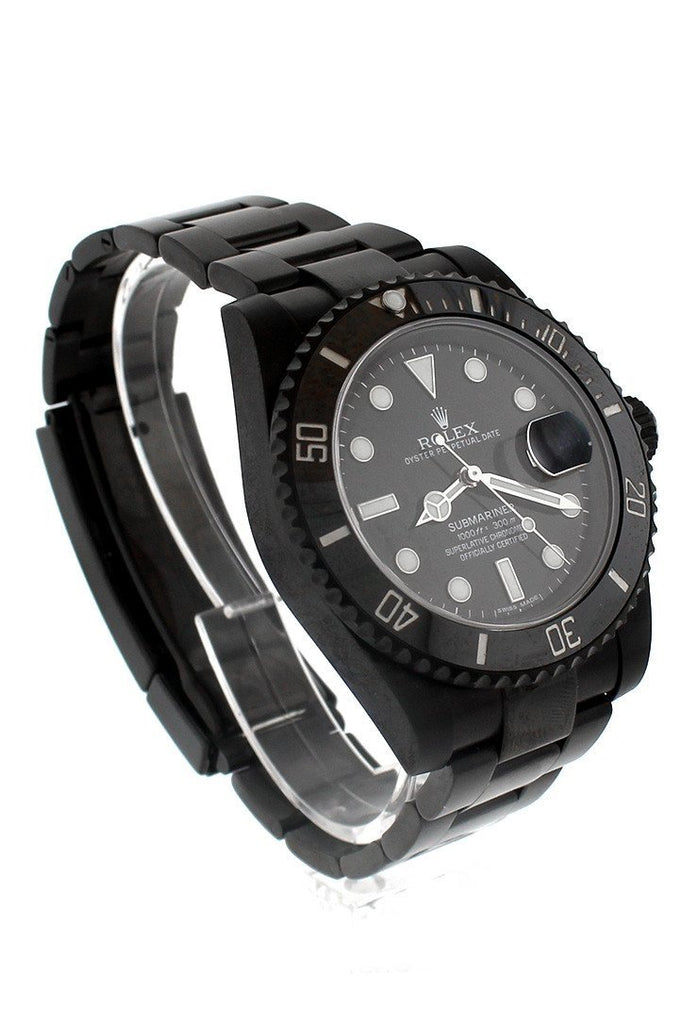 Rolex Black-Pvd Submariner Black Dial Cerachrom Bezel Steel Boc Coating Mens Watch 116610 Rolex Pvd