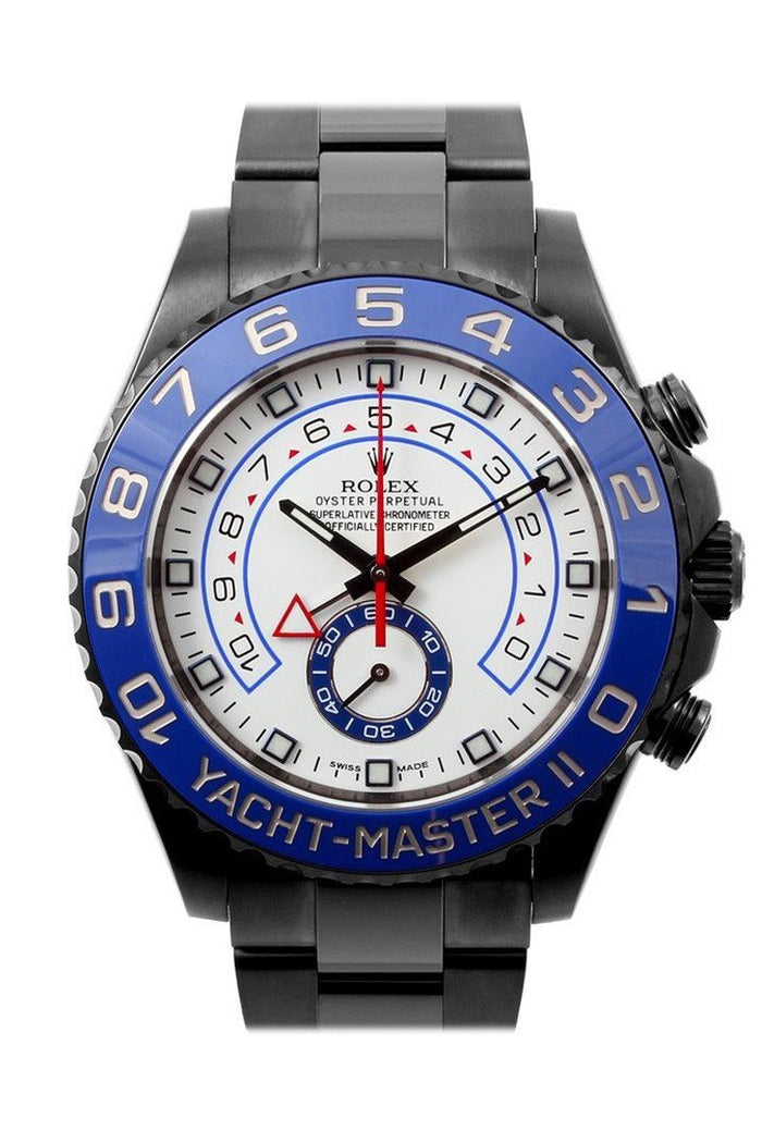 ROLEX BLACK-PVD YACHT-MASTER 40 DARK White DIAL STEEL BLACK BOC COATING OYSTER MEN'S WATCH 116680