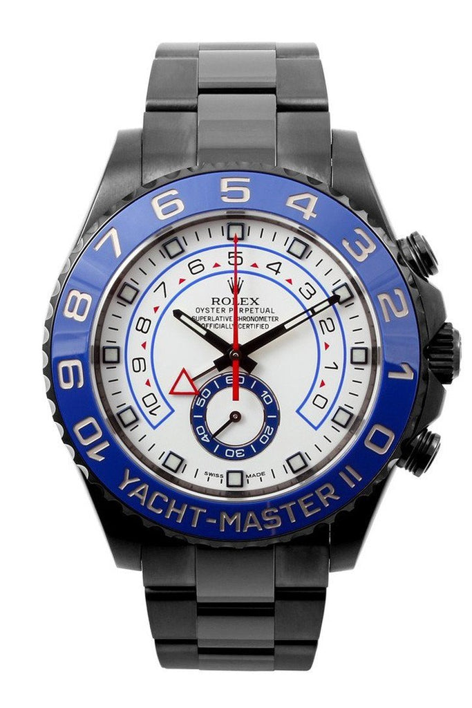 Rolex Black-Pvd Yacht-Master 40 Dark White Dial Steel Black Boc Coating Oyster Mens Watch 116680 /