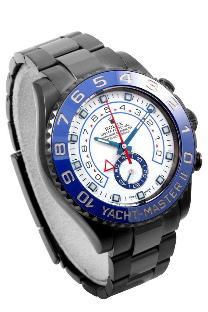 Rolex Black-Pvd Yacht-Master 40 Dark White Dial Steel Black Boc Coating Oyster Mens Watch 116680