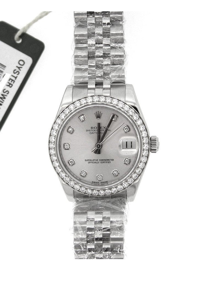 Rolex Datejust 31 Silver Diamond Dial Jubilee Watches 178384 Pre-Owned-Watches