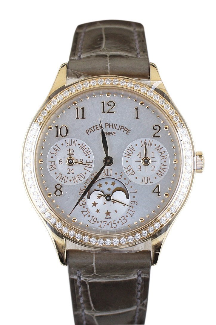 Patek Philippe Ladies Grand Complications Perpetual Calendar Rose Gold Watch 7140R-001 White