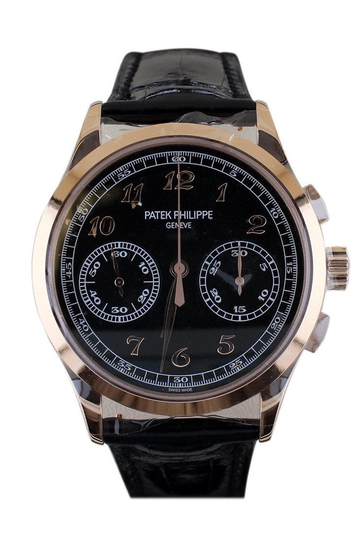 Patek Philippe Complications Chronograph Rose Gold Men Watch 5170R-010 Black