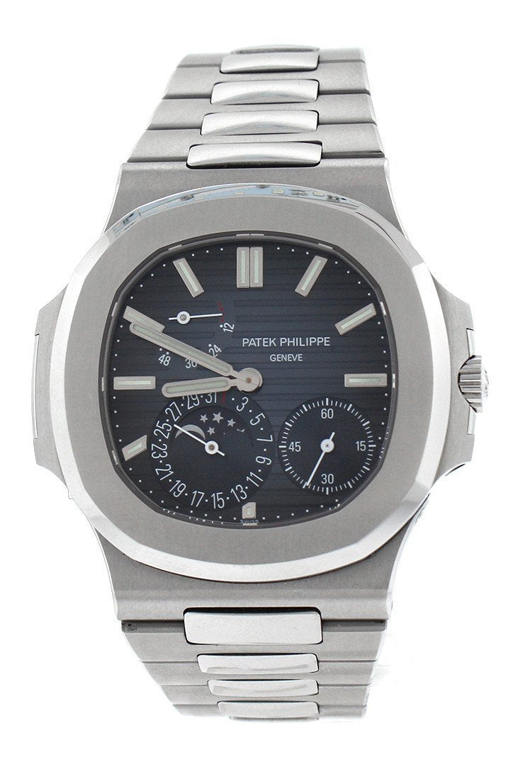 Patek Philippe Nautilus Blue Dial Stainless Steel Mens Watch 5712/1A-001