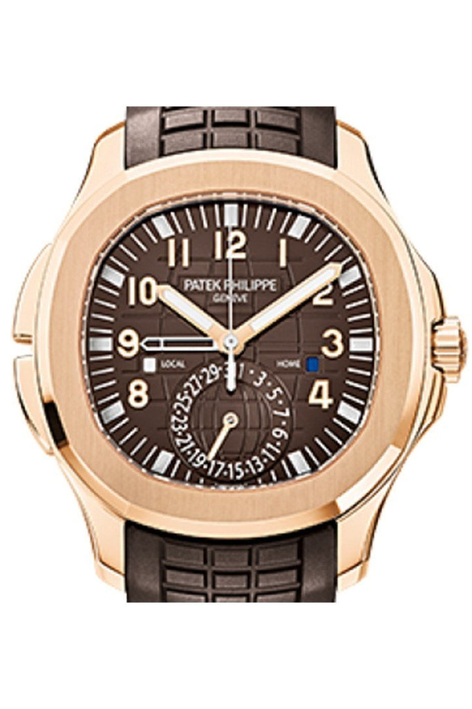 Patek Philippe Aquanaut Brown Embossed Arabic Dial Rose Gold Composite Men's Watch 5164R-001