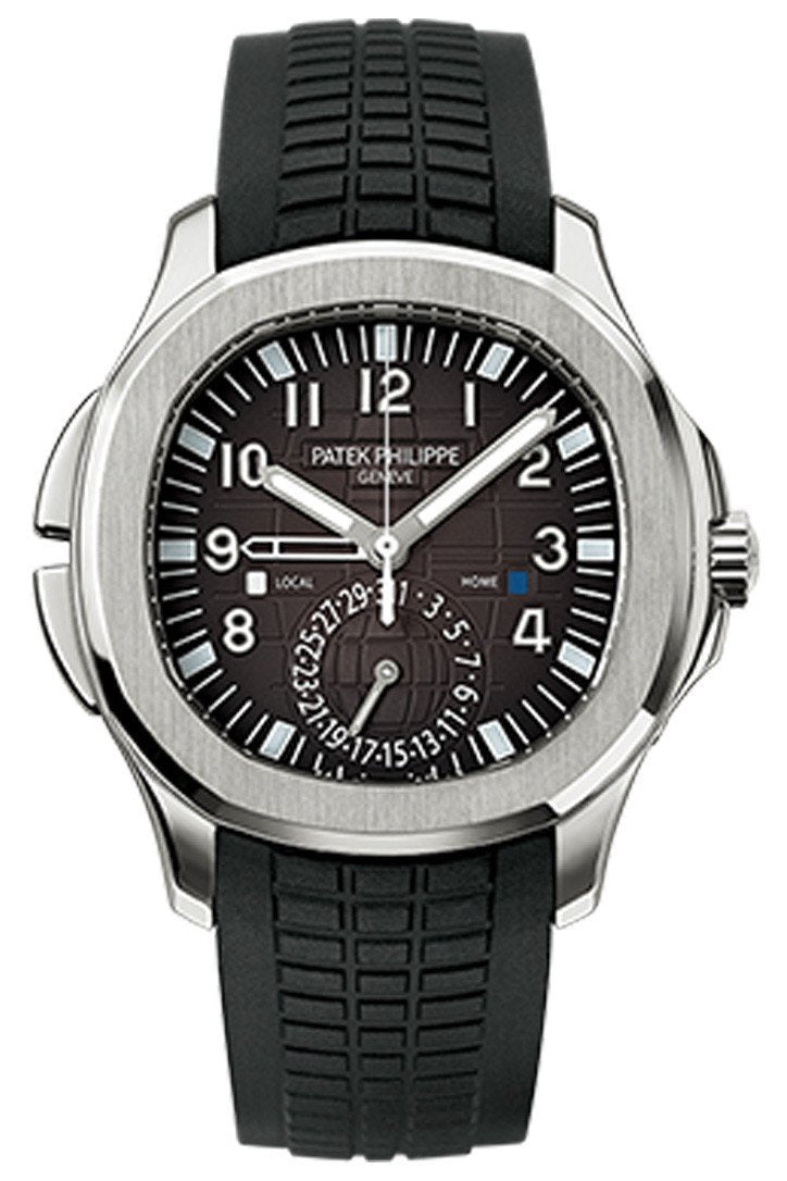 Patek Philippe Aquanaut Dual Time Black Dial Automatic Mens Watch 5164A-001