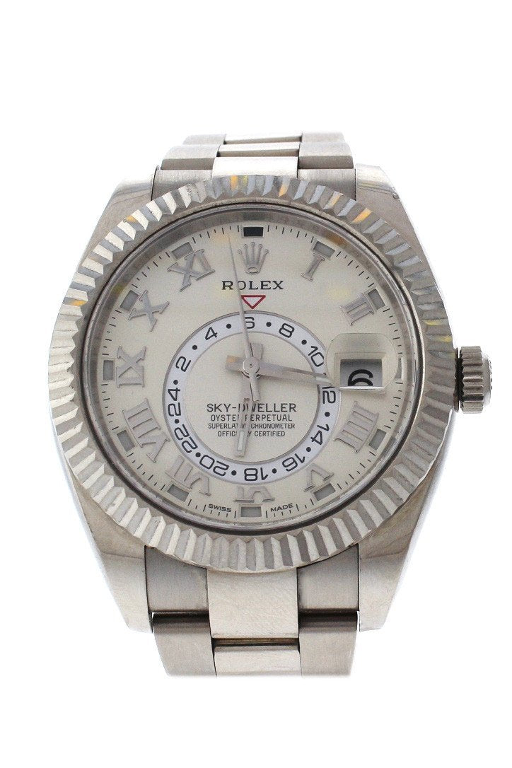 Rolex Sky Dweller Ivory Dial 18K White Gold Oyster Automatic Mens Watch 326939 / None